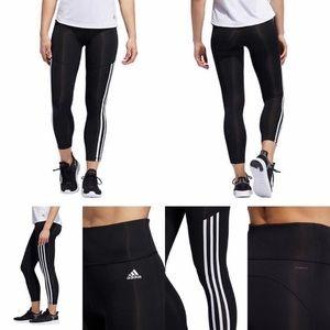 Adidas Climate 3 stripe tights NWT